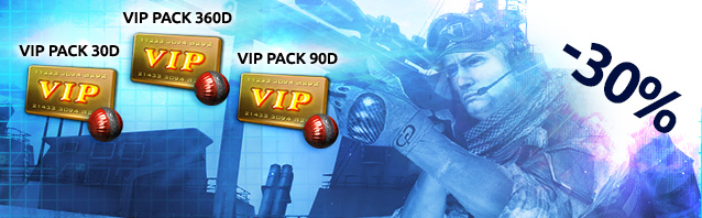 Save 30% CASH on VIP Packs!