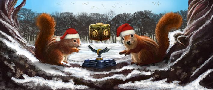 Noël déboule dans le jeu des cristaux!
